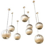 EIGHT CEILING LIGHTS / FRENCH