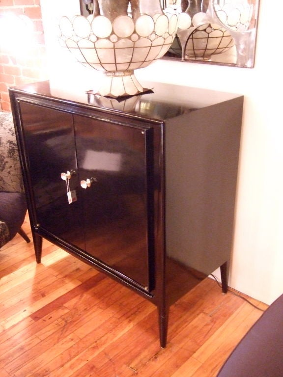 Entrancemaker black cabinet at 1stdibs for French furniture designers 20th century