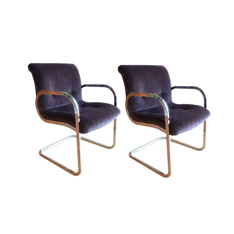 Pair of Brueton Chairs at 1stdibs
