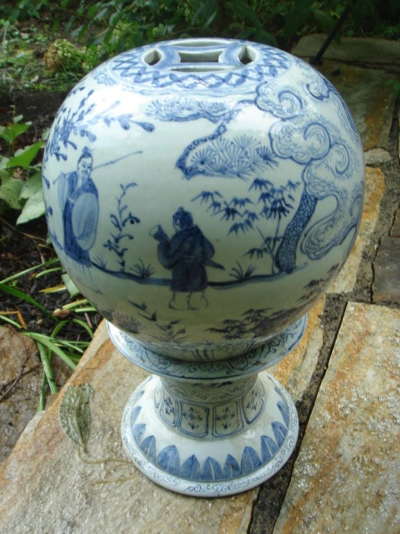 A Chinese Blue And White Ceramic Garden Lantern At 1stdibs