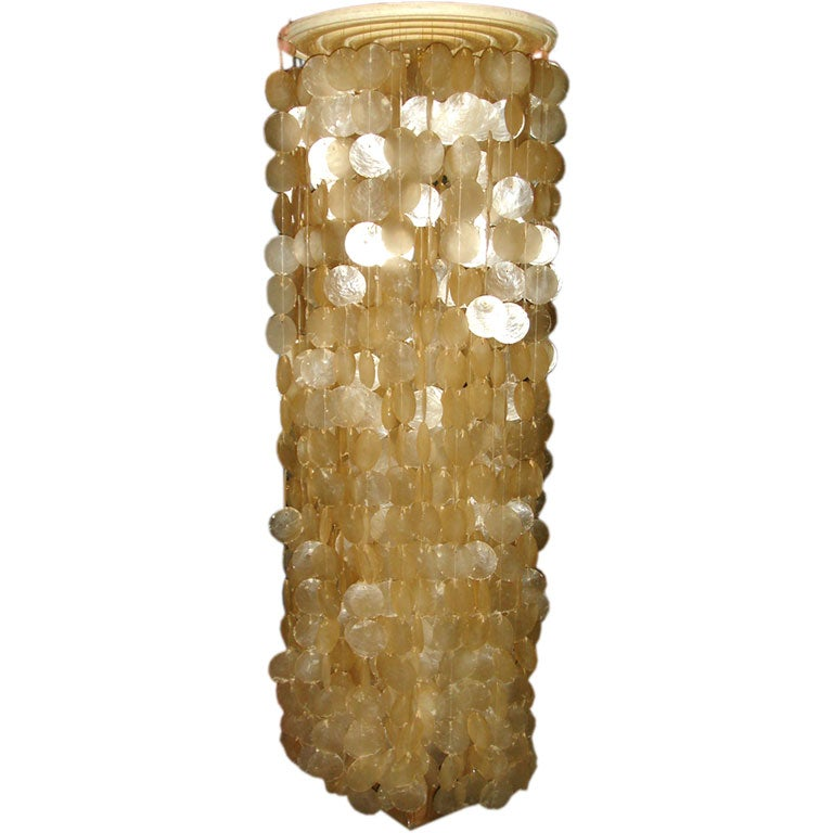 this a large capiz shell hanging light is no longer available. Black Bedroom Furniture Sets. Home Design Ideas