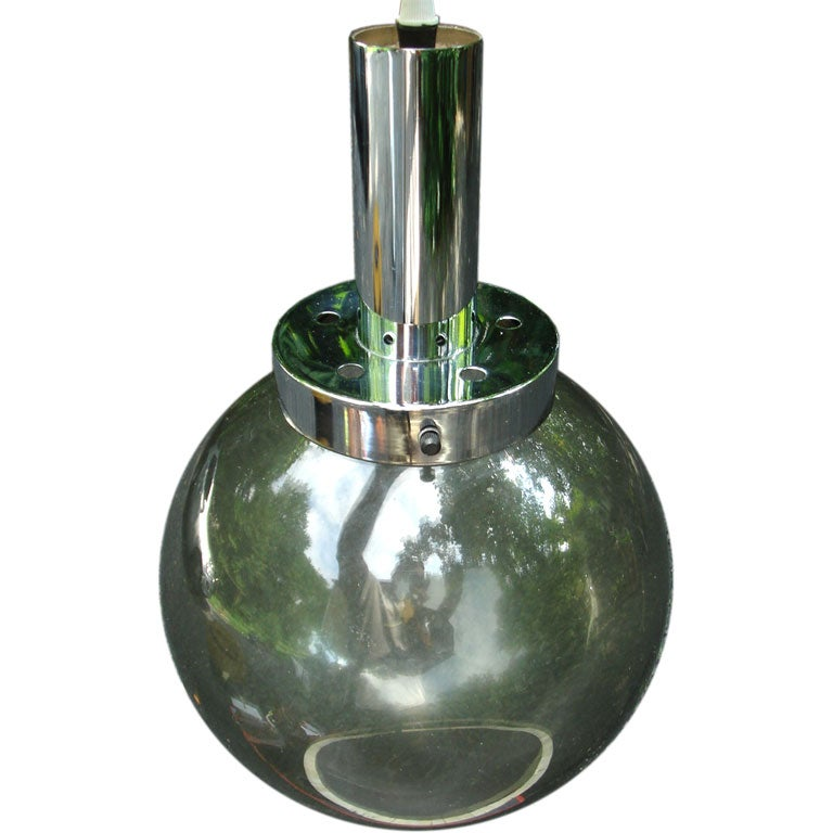 Lightolier Hanging Globe Light For Sale