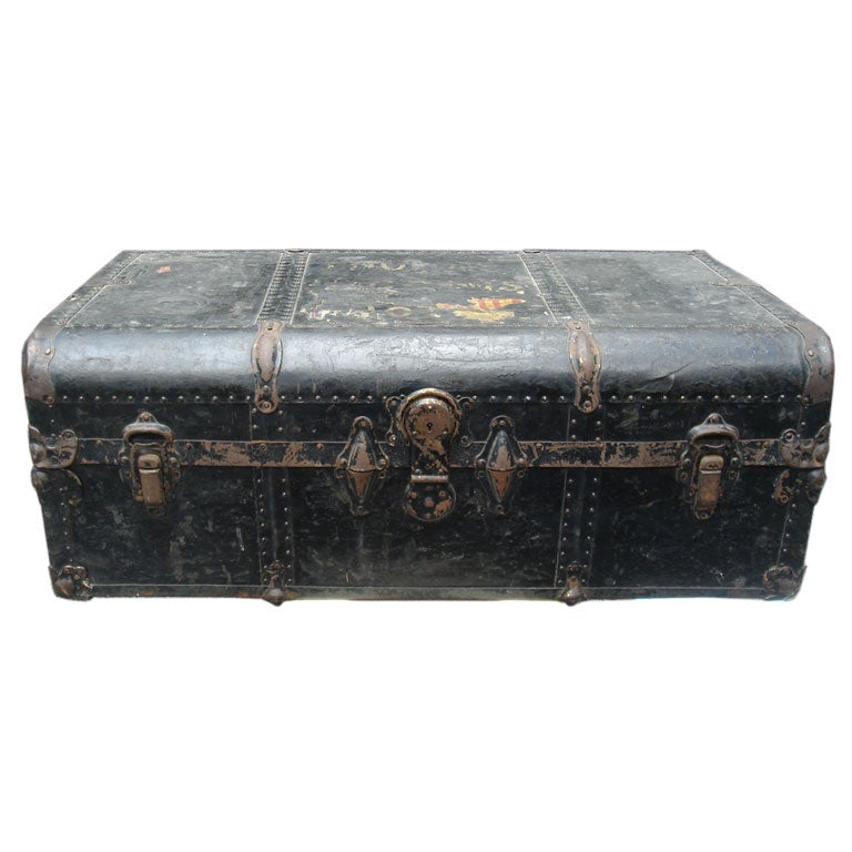 A Steel Steamer Trunk By Unbreakable Trunks New York At