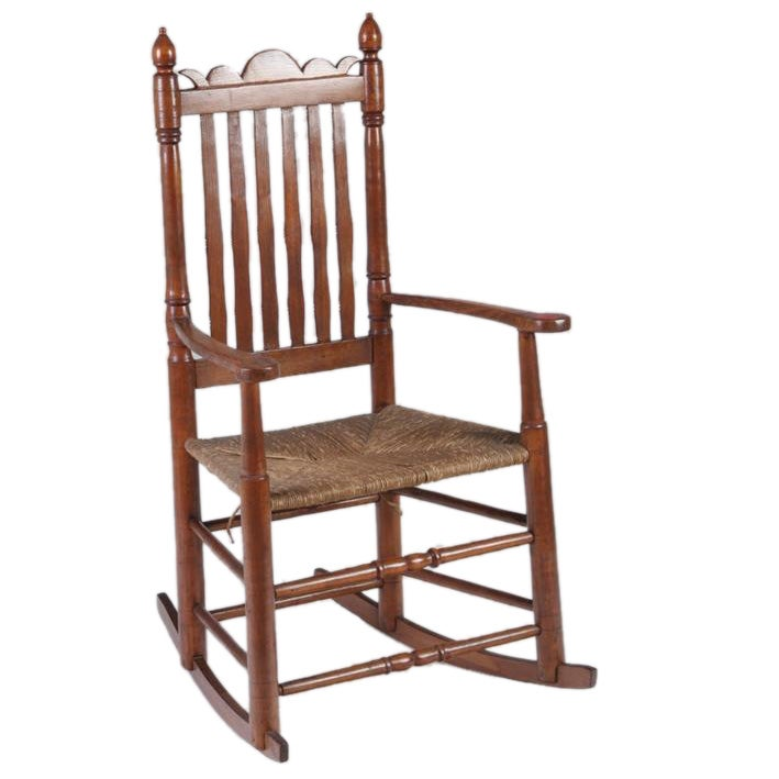 An Early American Bannister Back Rocking Chair at 1stdibs