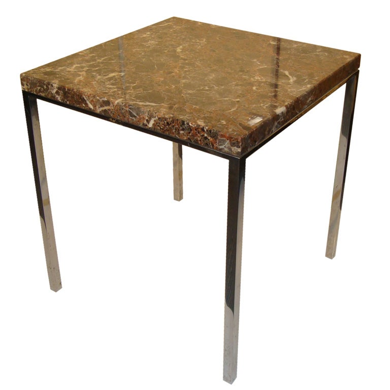 Square Side Table W/ Marble Top By Florence Knoll **Sat Sale   50