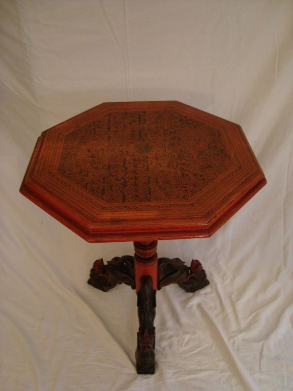 Very Fine Balinese Pedestal Table 2