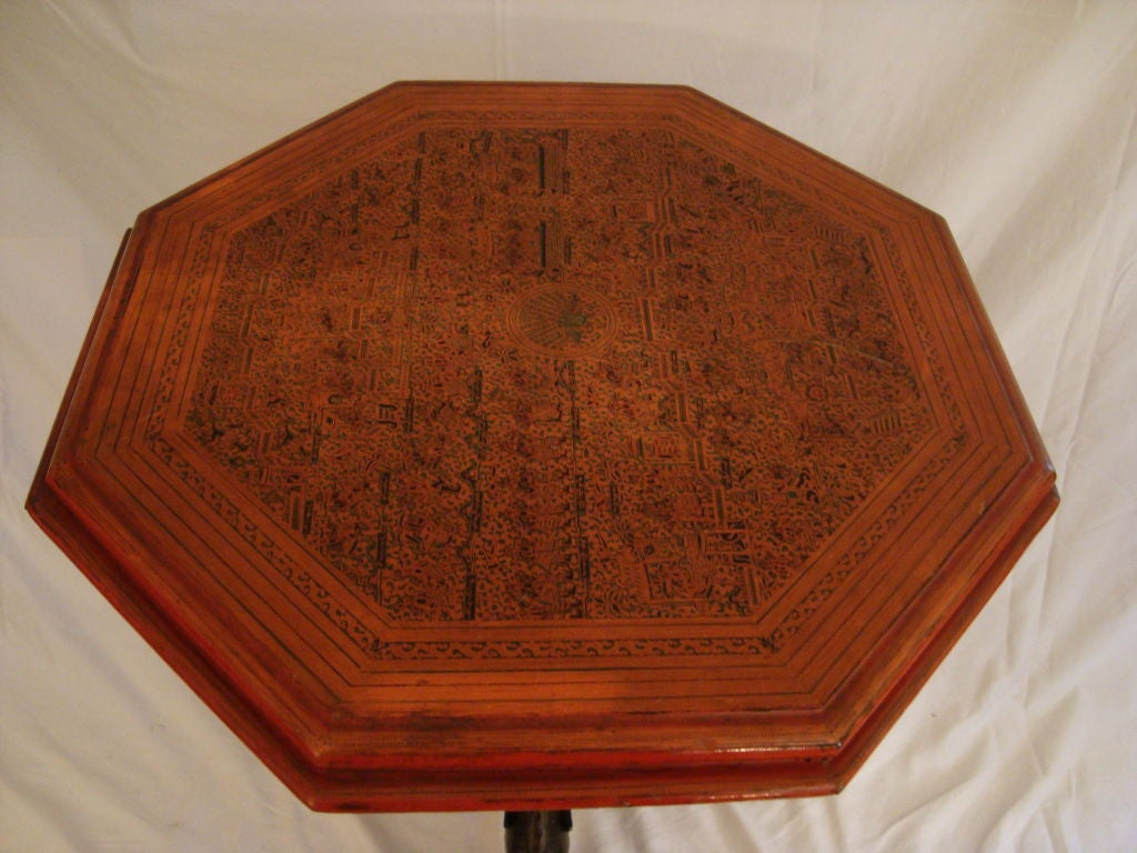Very Fine Balinese Pedestal Table In Good Condition For Sale In NYC, NY
