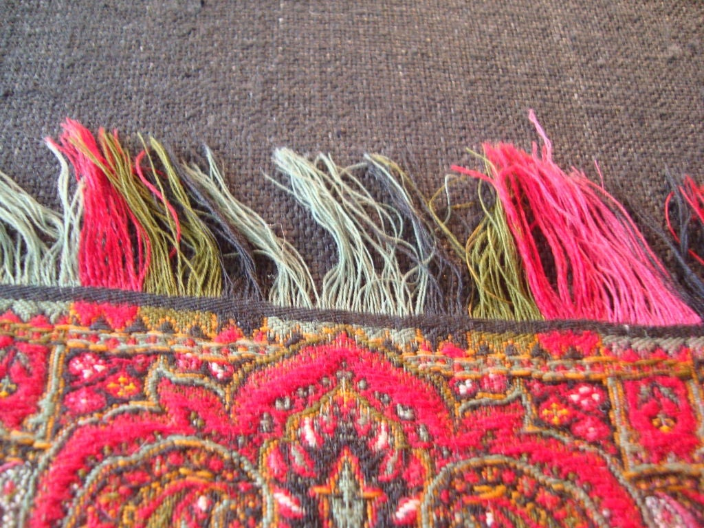 Antique Kashmir Wool Paisley Shawl For Sale 1