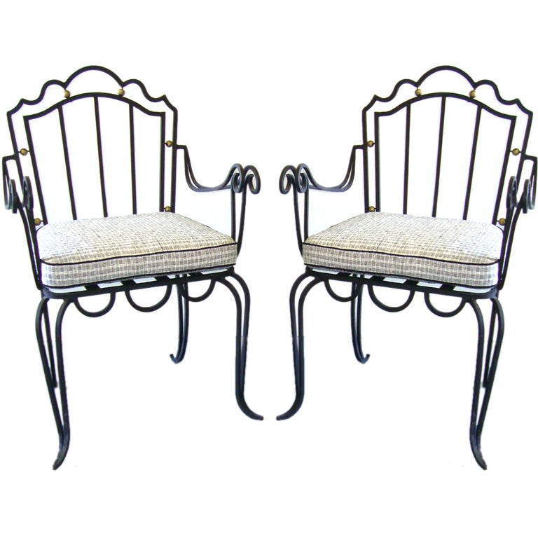 Vintage wire frame garden chairs