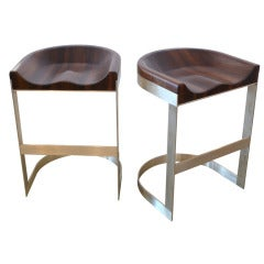 Walnut Saddle Stools