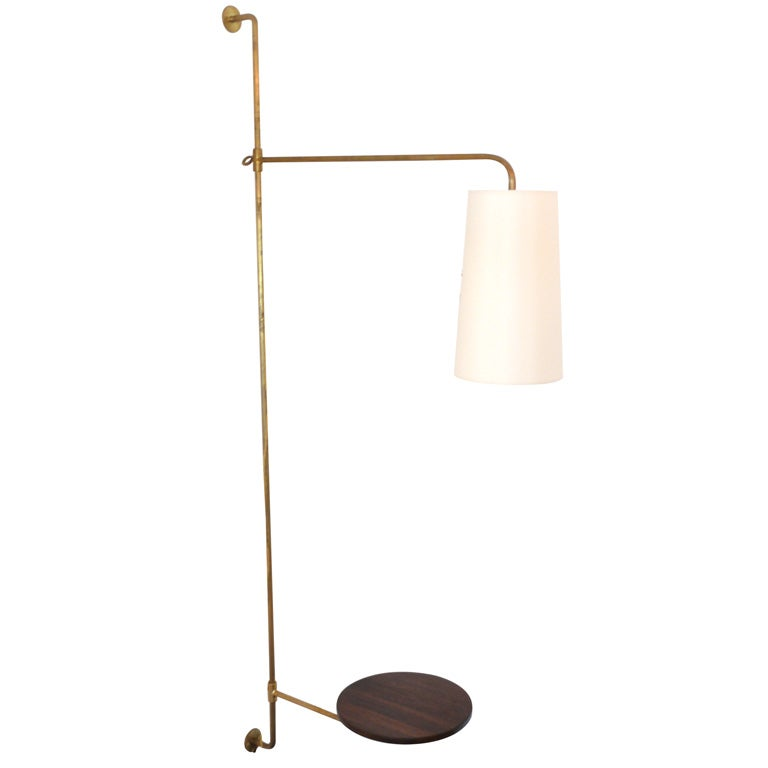 French Light Poles : French wired pole sconce with table by orange los angeles