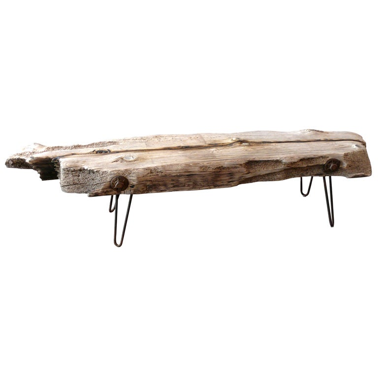 floating driftwood bench at 1stdibs