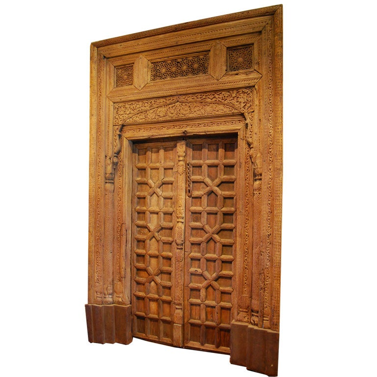 Pakistani hand carved door at stdibs