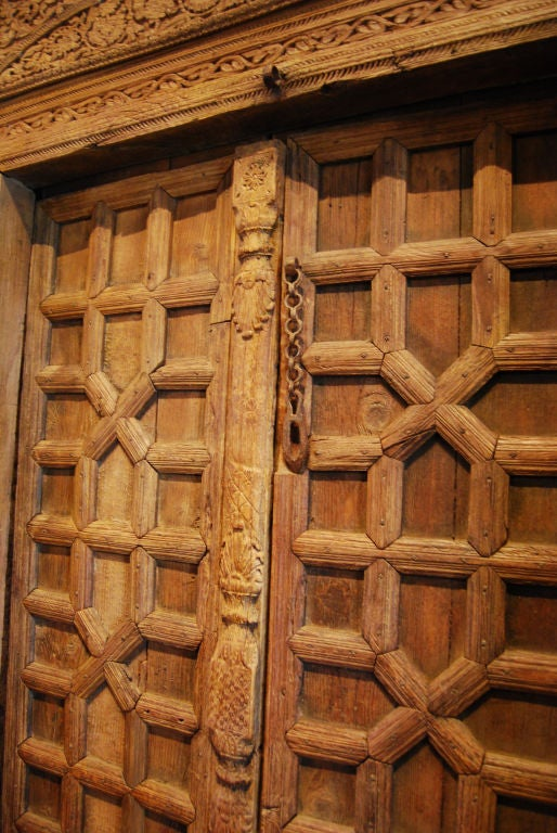 Pakistani Hand Carved Door At 1stdibs
