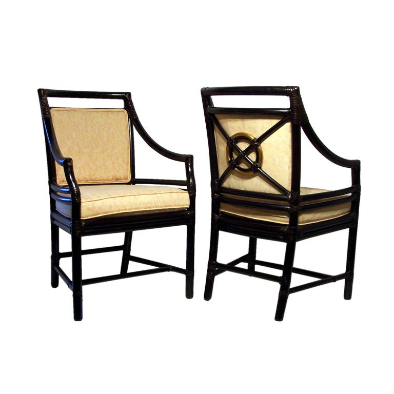 set of 6 dining chairs by mcguire at 1stdibs