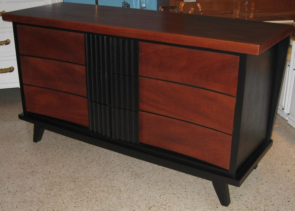 Dixie Furniture Company Six Drawer Dresser Cabinet At 1stdibs