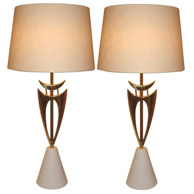 Pair Of Magnificent Rembrandt Mid Century Table Lamps At