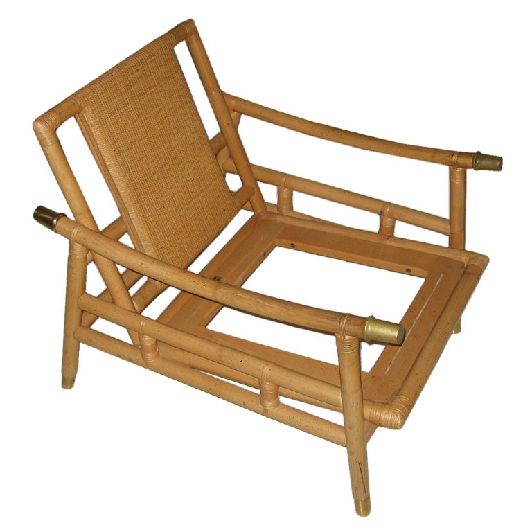 Ficks Reed Rattan Lounge Chair At 1stdibs