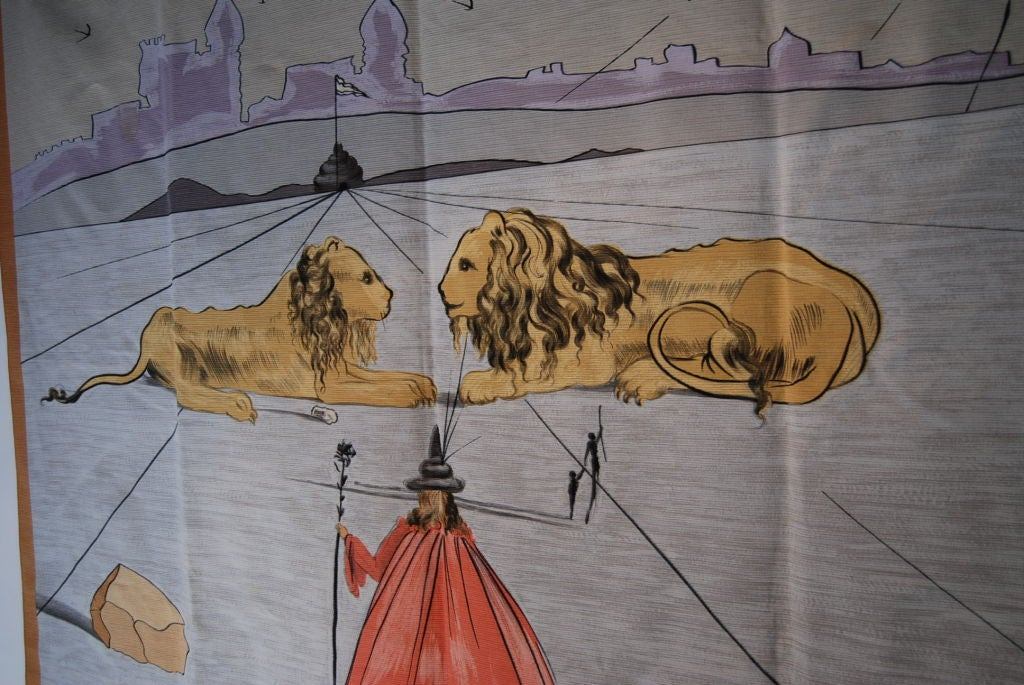 SIGNED SALVADOR DALI WALL TAPESTRY image 4