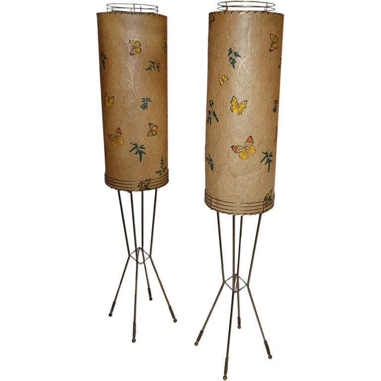 WHIMSICAL PAIR OF FLOOR TABLE LAMPS At 1stdibs