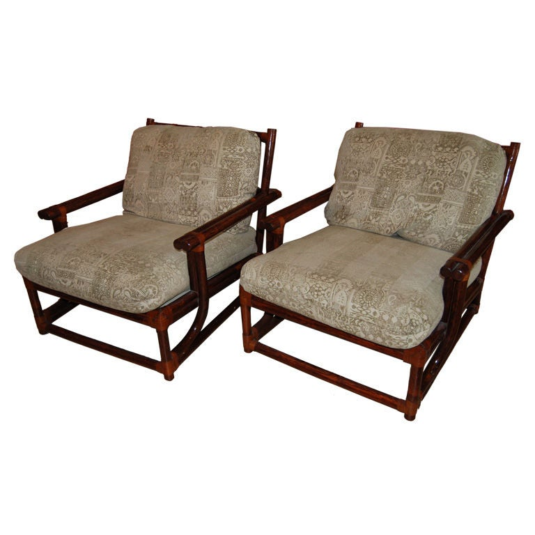 Pair of bamboo roche bobois lounge chairs at 1stdibs - Roche bobois chaises ...