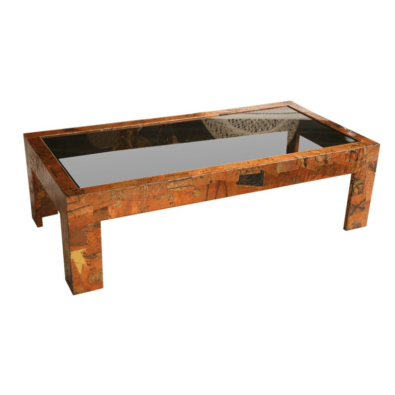 Pieced Copper Coffee Table At 1stdibs