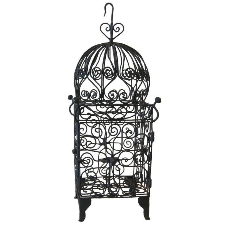 Iron Hanging Candle Lantern /SUMMER SALE