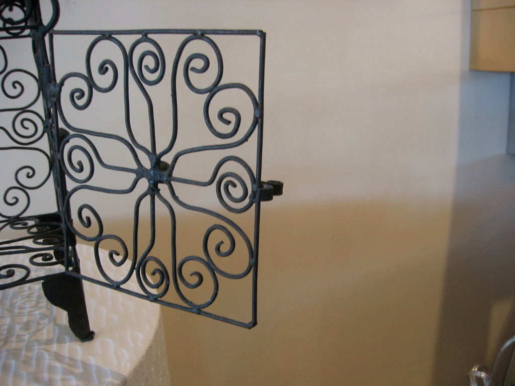 Moroccan Iron Hanging Candle Lantern For Sale