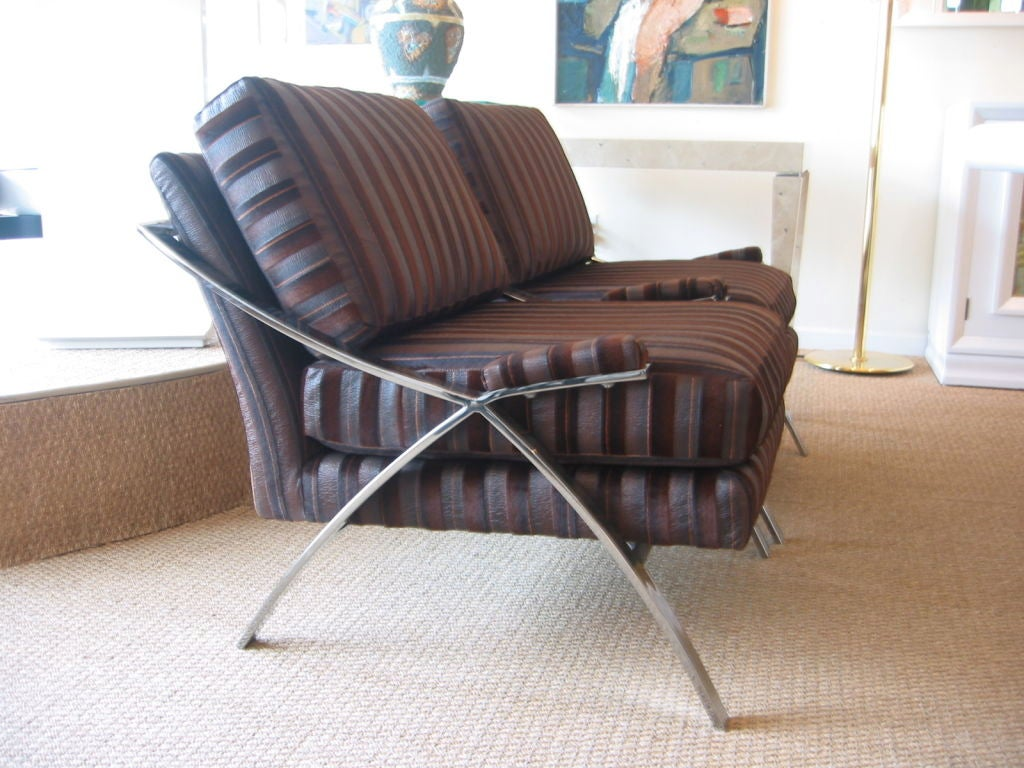 Pair Of Luxurious Lounge Chairs At 1stdibs