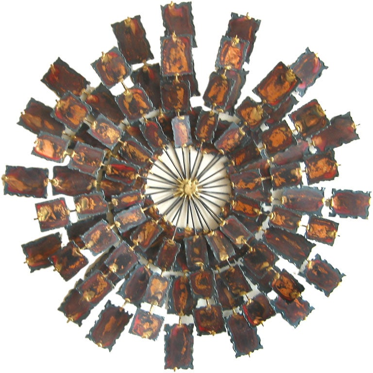 Copper starburst wall sculpture at 1stdibs for Copper wall art