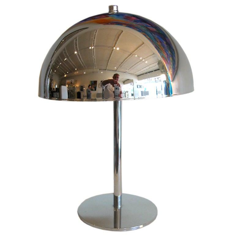 Chrome Mushroom Desk Lamp At 1stdibs