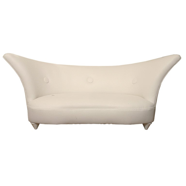 chic curved and flared sofa settee at 1stdibs