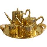 Five Piece Brass Tea/Coffee Set signed D.C. Phillips