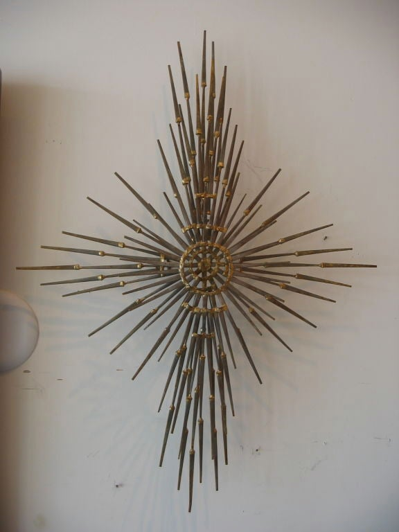 Flat Head  Iron Nail Sculpture 2