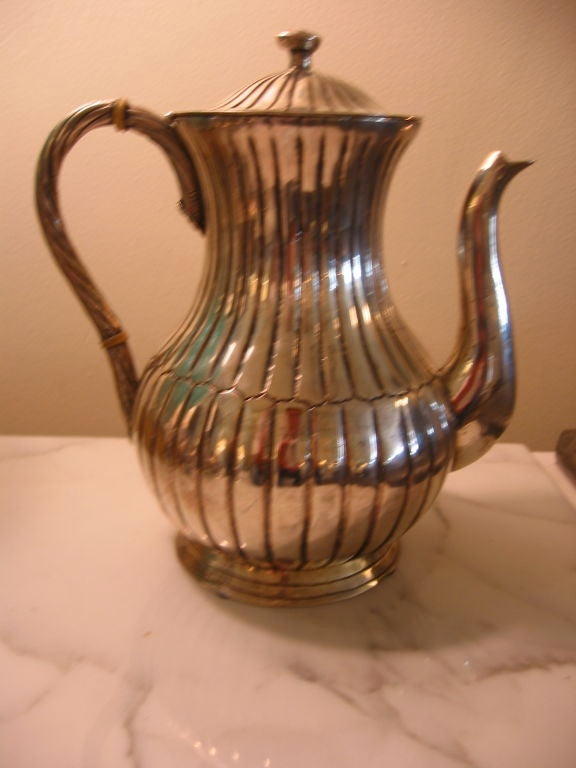 Mexican Sterling Silver Sanborn Mid-Century Modern Tea or Coffee Service For Sale