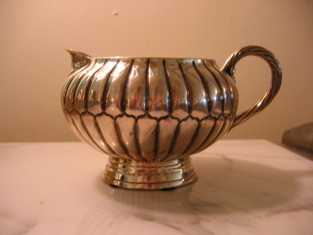 Sterling Silver Sanborn Mid-Century Modern Tea or Coffee Service For Sale 1