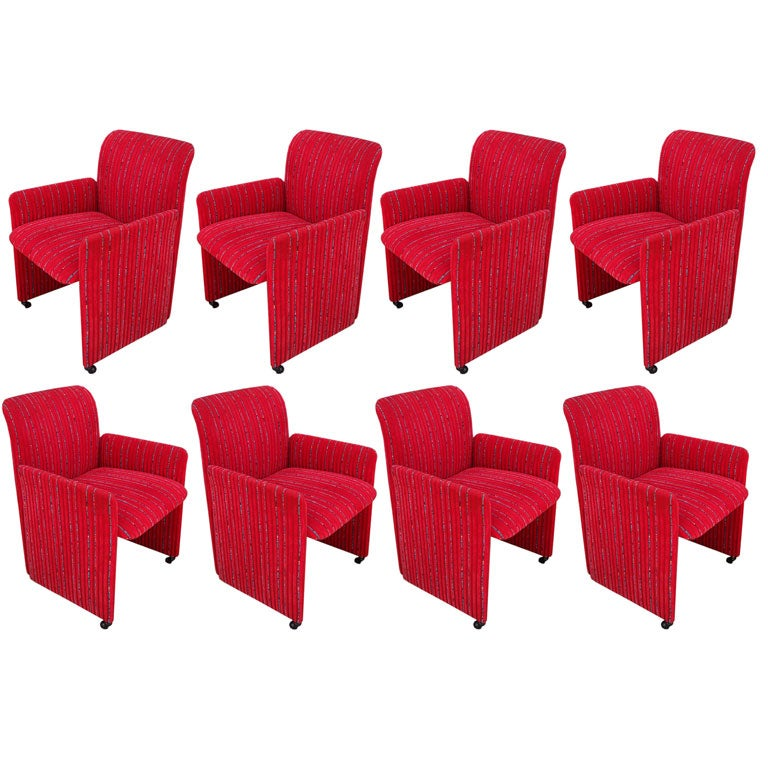 Margherita Missoni Anywhere Chair: A Set Of Eight Saporiti Dining Armchairs In Missoni Fabric
