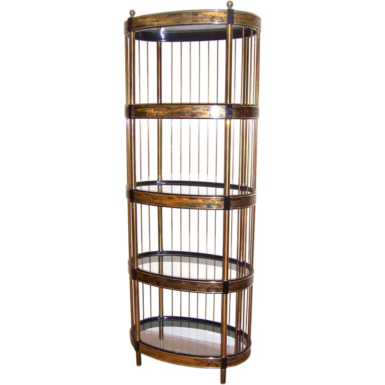 A mastercraft oval etagere at 1stdibs - Etagere cases carrees ...