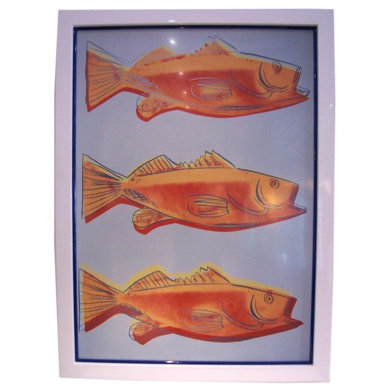 Andy Warhol Print Fish 1983 At 1stdibs