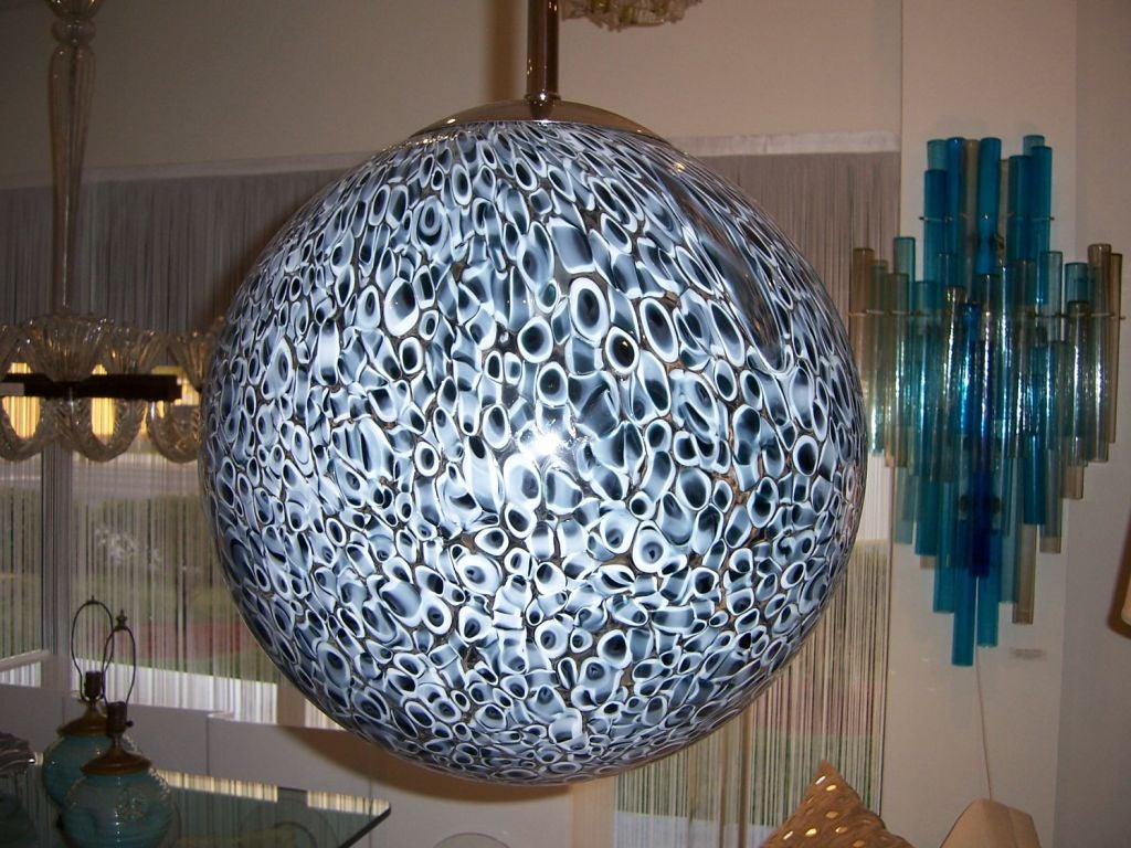 Vistosi Globe Hanging Light Fixture At 1stdibs