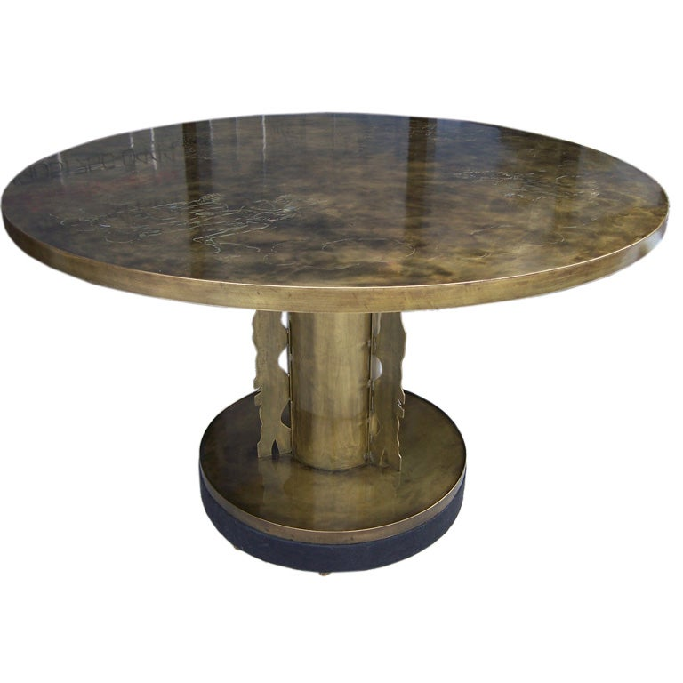 Round Foyer Chair : Phillip and kelvin laverne round dining foyer table at stdibs