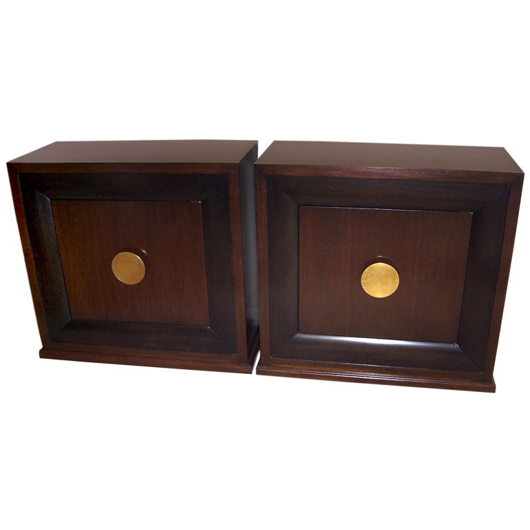 A pair of mont style bedside cabinets at 1stdibs for Armoire style japonais
