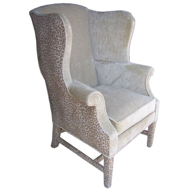 A Luxurious Georgian Wingback Armchair At 1stdibs