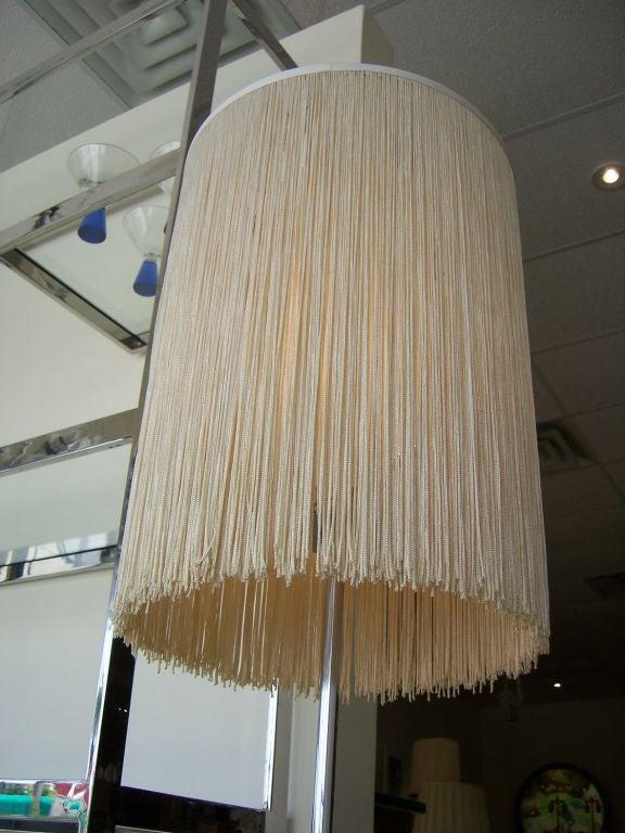 a chromed floor lamp with silk fringe shade at 1stdibs. Black Bedroom Furniture Sets. Home Design Ideas