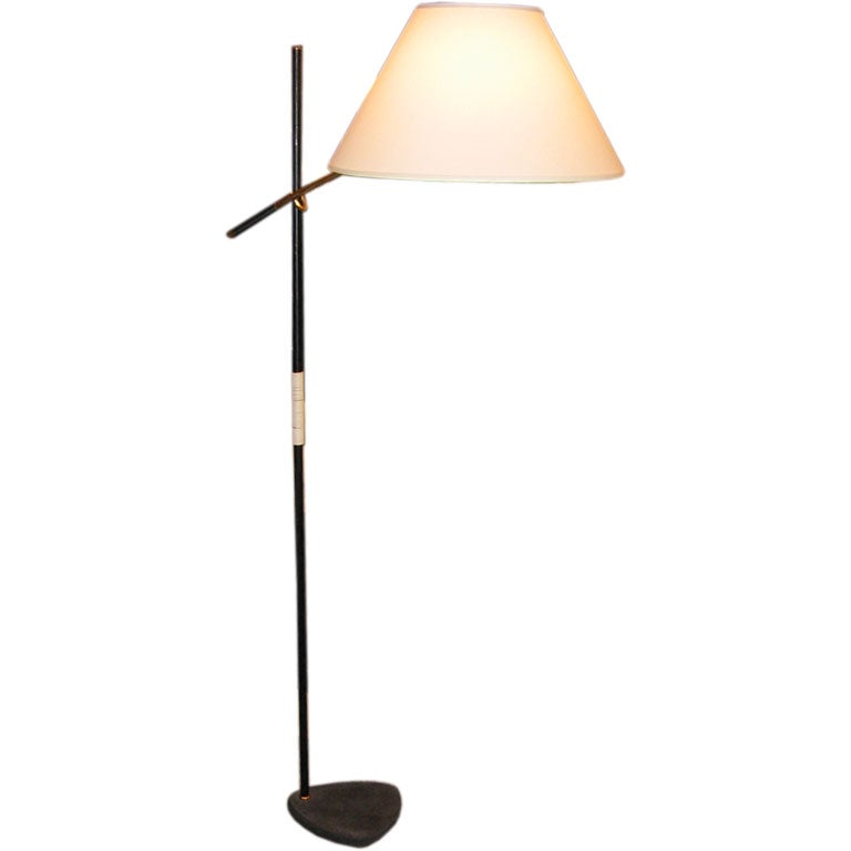 A Floorlamp In Lacquered Metal And Brass By Arredoluce At