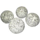 Set of Four Stone Balls
