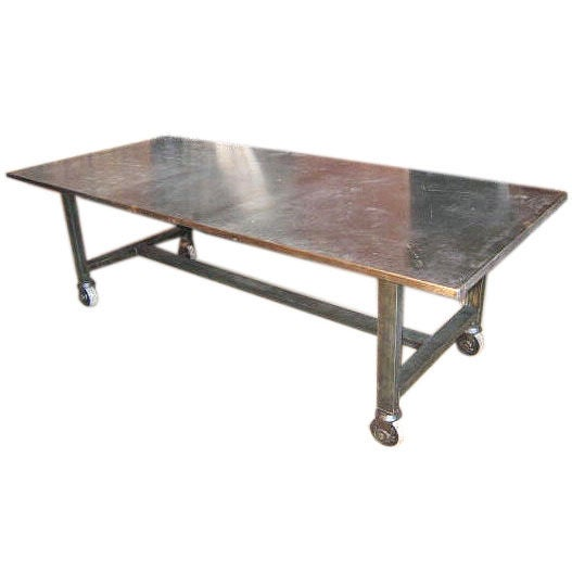 industrial dining table at 1stdibs