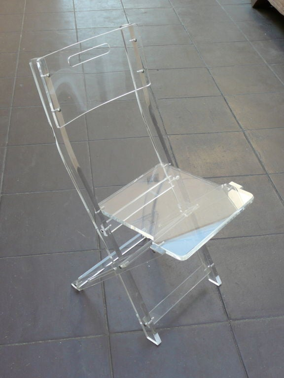 Lucite Folding Chairs at 1stdibs