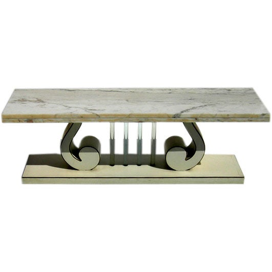 Hollywood regency style narrow coffee table at 1stdibs for Narrow coffee table