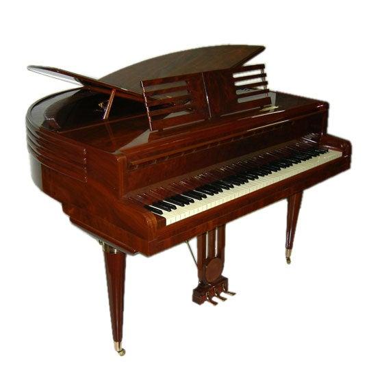 wurlitzer butterfly art deco piano at 1stdibs. Black Bedroom Furniture Sets. Home Design Ideas